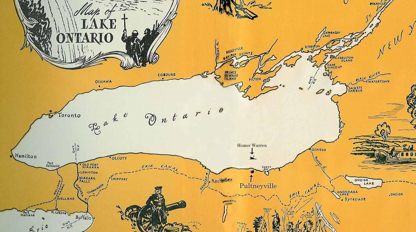 Lake Ontario on us Map Map of Lake Ontario With
