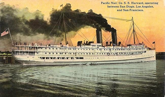 1912 SS Harvard Postcard